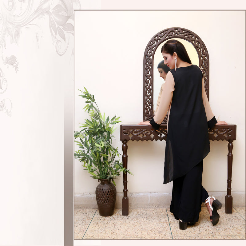 SKIN & BLACK EMBROIDERED DRESS (SE22006DR02)