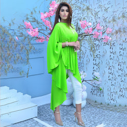 GREEN EMBROIDERED DRESS (SSP2101DR62)