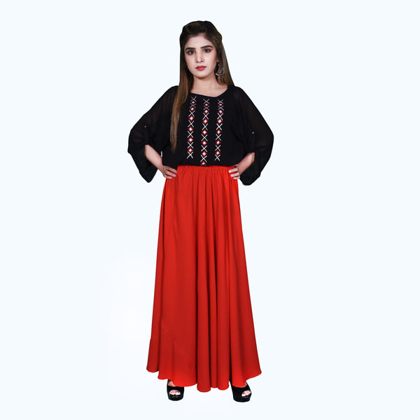 BLACK EMBROIDERED TOP (SSP2001TU48)