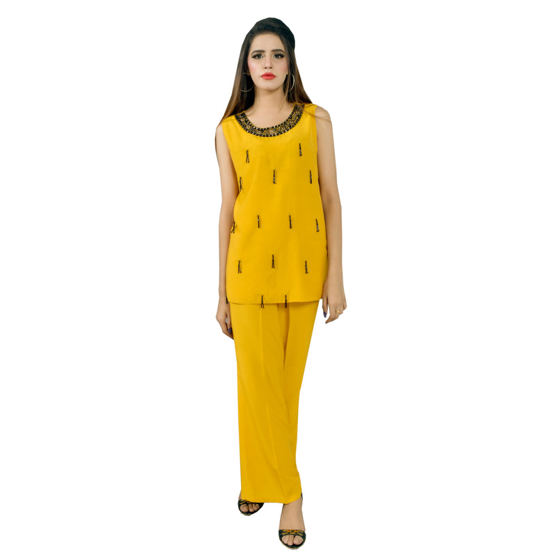 MUSTARD THREE PIECE SUIT (W19WI10S24)