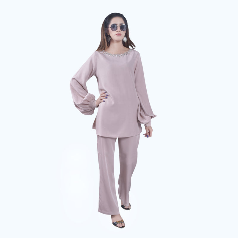 PEACH TWO PIECE SUIT (W19WI11S24)