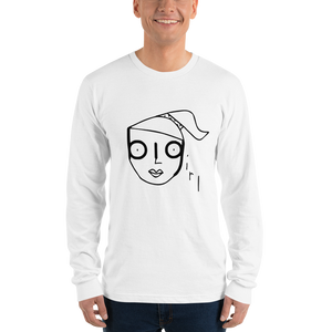 Big Girl 2 Character Long Sleeve Unisex Tee (Black Graphic)