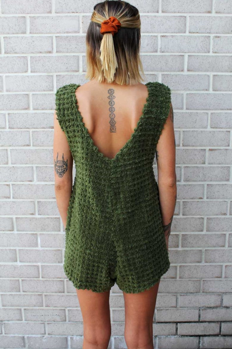 Forest Green Terry Romper