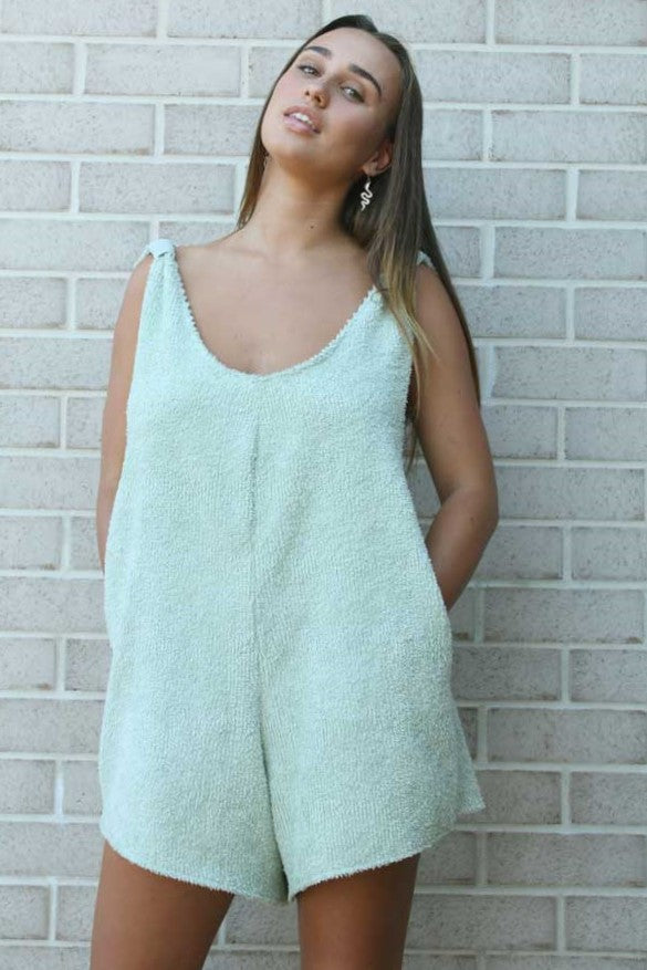 Mint Terry Romper