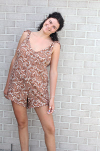 Brown Paisley Arlo Romper