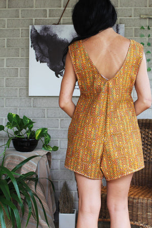 Orange Arlo Romper