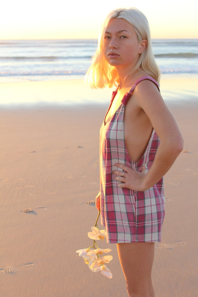 Pink Checkered Arlo Romper