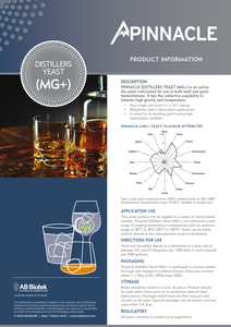 Pinnacle MG+ - Distillers Yeast
