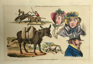 Animals, Donkey, Henry Alken's Scrap Book