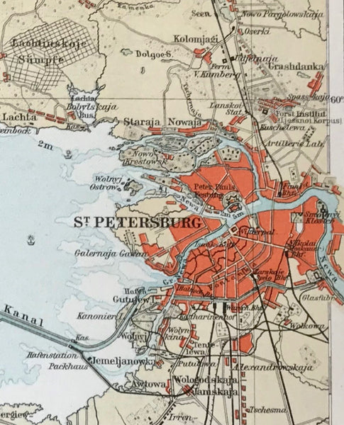 City Views, Maps, Surroundings of St. Petersburg