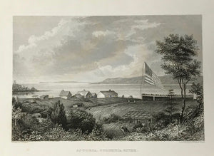 "USA, ""Astoria, Columbia River.""  Fine steel engraving by Rawdon, Wright & Hatch after A.T. Agate ca 1845."