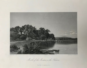 "USA, ""Mouth of the Moodna, from the Hudson""  Steel engraving by G. W. Wellstood after David Johnson, dated 1870."