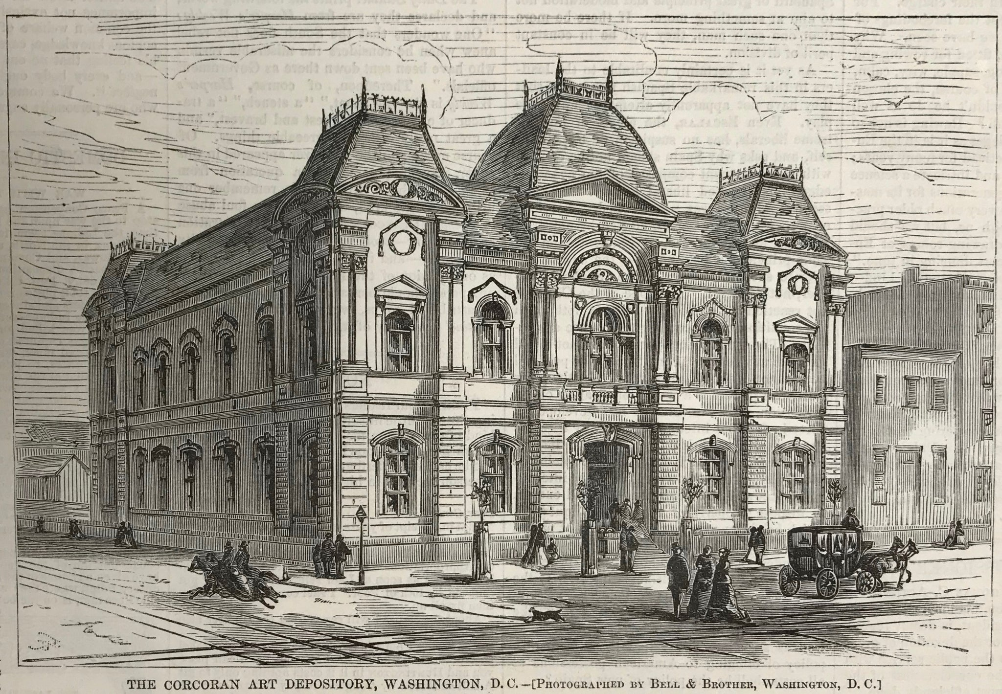 THE CORCORAN ART DEPOSITORY, WASHINGTON, D.C.  Wood engrasving, 1869.