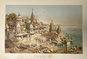 """Benares am Ganges""  Chromolithograph published 1890."