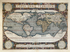 Maps, World Map by Abraham Ortelius