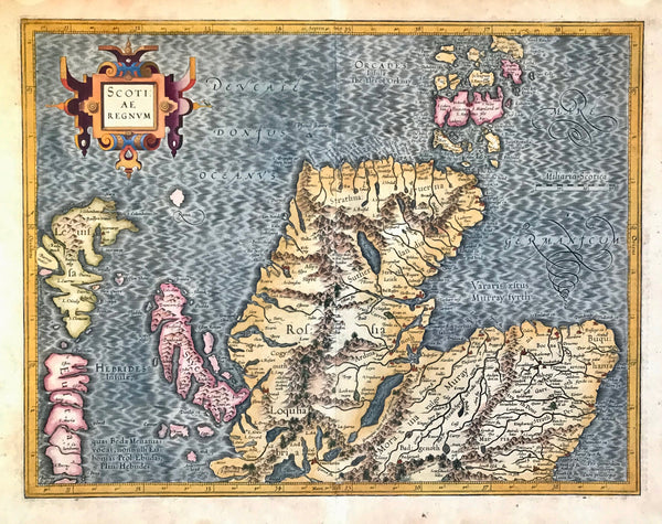 Maps, British Isles, Scotland, Mercator