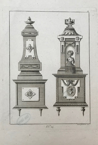 "No Title.  Copper engraving by Jean Gradmann ca 1780.  21.5 x 15 cm ( 8.4 x 5.9 "")"
