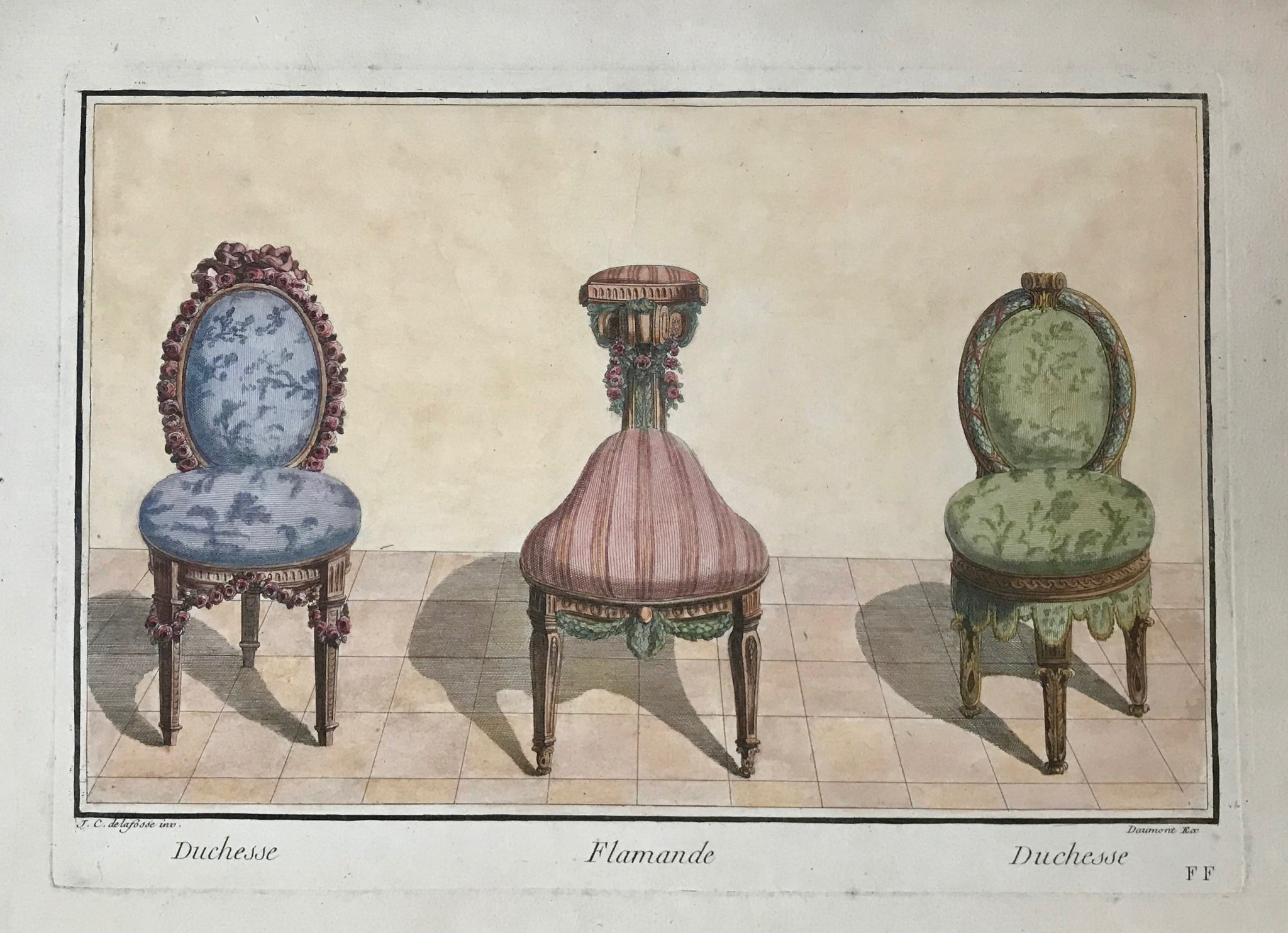 Copper engravings (ca.1820)  De La Fosse.