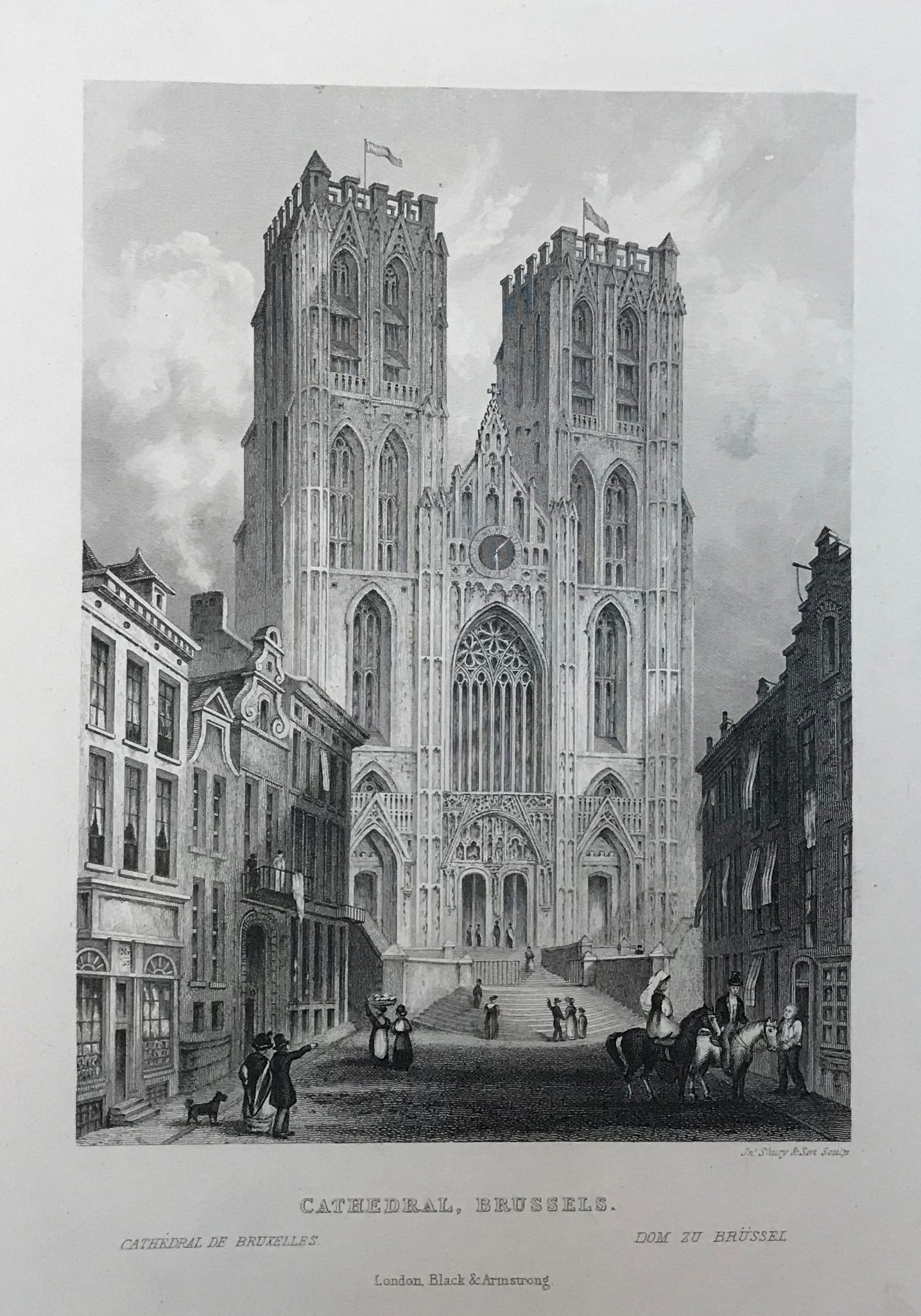 City Views, Belgium, Brussels, Cathedral