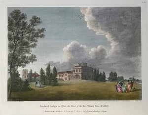 Bradwell Lodge in Essex, The Seat of the Revd. Henry Bate Dudley  By W. angus after Rowlanson, dated 1793.