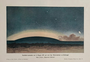 """Nordlicht beobachtet am 6. August 1871 auf dem Kgl. Observatorium zu Edinburgh""  Wood engraving printed in color ca 1900."