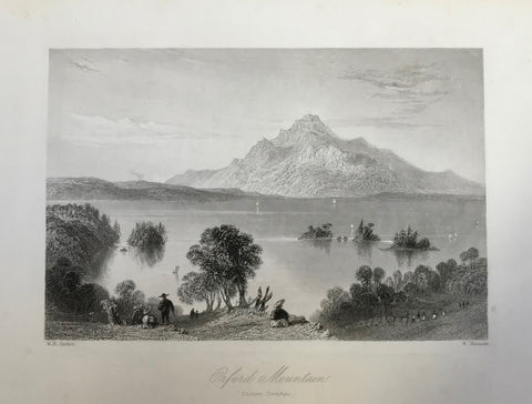 """Oxford Mountain"" (Eastern Townships)  Steel engraving by W. Mossman after W. H. Bartlett dated 1842."