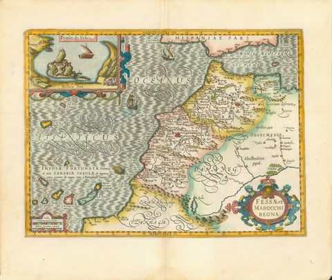 Maps, Africa, Spain, Canary Islands, Madeira, Peñon de Velez, Fortunate Island