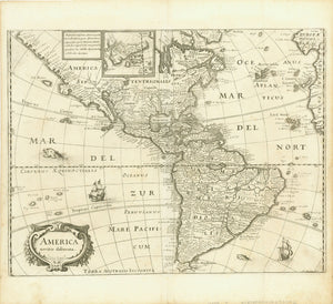 Maps, North and South America, America noviter delineata