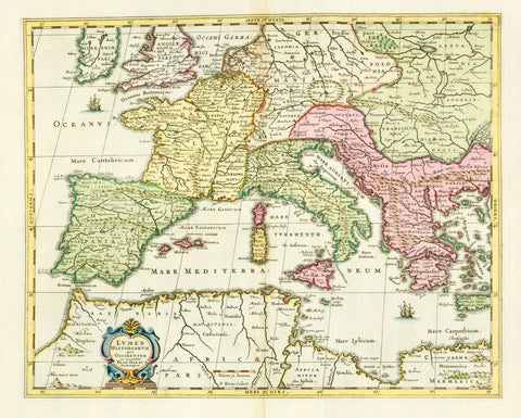 Maps, Europe, Janssonius