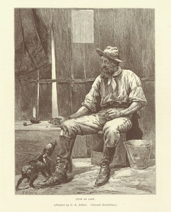 """Luck at Last""  Wood engraving after a painting by G. R. Ashton, 1895. Reverse side is printed with unrelated text."