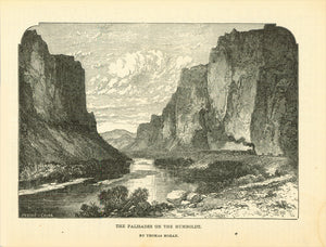 Landscapes, USA, The Palisades on the Humbolt, after Rhomas Moran