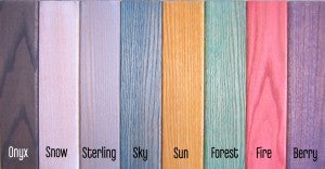 Hard Wax Oil colors available for Oak Furniture