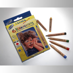 Lyra Face Paint Pencils - 6 pencils