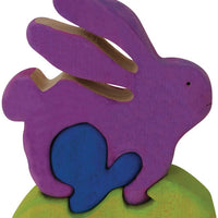 Color Me Up Wooden Puzzle Kits - Bunny - ages 3+