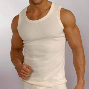 Men's Organic Cotton Tank Tops - Only Size Small
