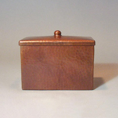 Roycroft-style Copper Recipe Box