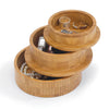 Bamboo Round Storage Jewelry Box