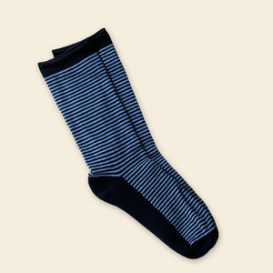 Organic Cotton Cushioned Crew Stripped Dress Socks