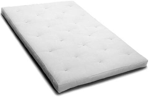 "6"" Thick organic cotton and wool filled futon mattress"