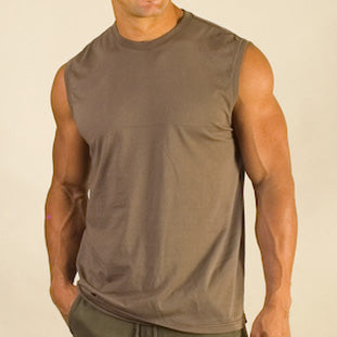 Organic Cotton Sleeveless Shirts - S