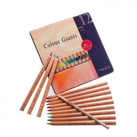 Waldorf Pencils - AMS Color Giants Waldorf Box - Choose 12 or 24 Colors + 1 Splender