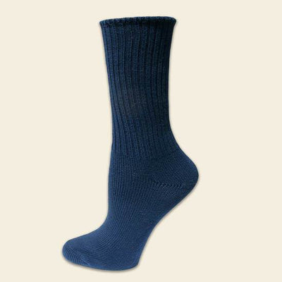 Organic Cotton Navy Crew Socks