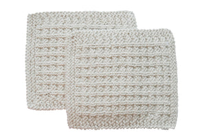 Certified Organic Cotton Scrubbing Washcloths (set of 2)