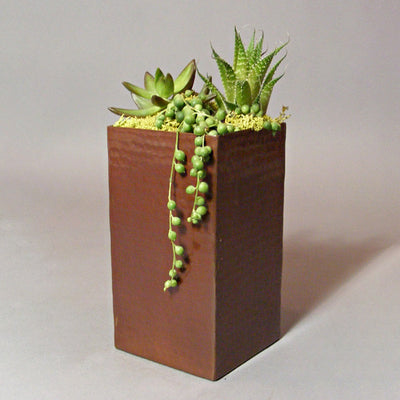 Contemporary Copper Planter
