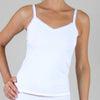 Organic Cotton White Camisoles With Lace (M, L, XL)