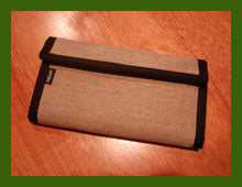 Hemp Checkbook Organizer Wallet