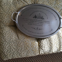 Etched Beehive Oval Tray