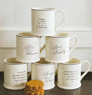 Inspirational White Ceramic Mugs