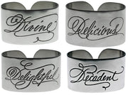 Divine Napkin Rings - Set of 4