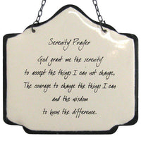 Sign: Serenity Prayer